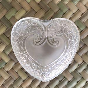 Lalique Coupelle Heart Bowl/Dish